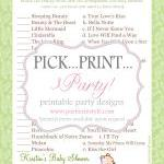Baby Shower Game - Disney Lo..