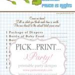 Baby Shower Game - Price is..