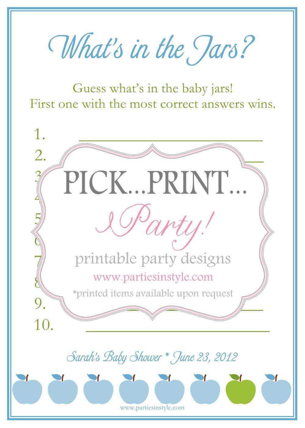 baby shower guessing game template car tuning